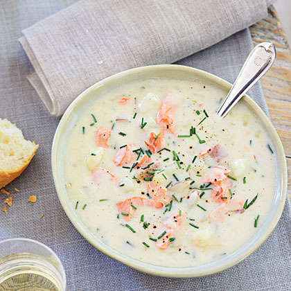 Salmon Chowder with Chives