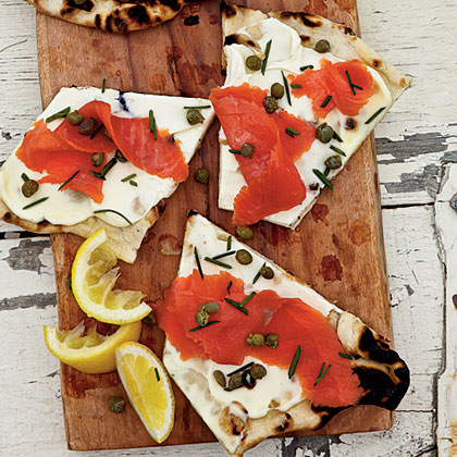 Grilled Smoked Salmon Pizza Recipe