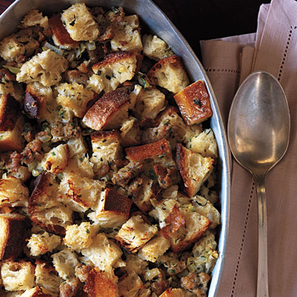 Sausage and Sourdough Bread Stuffing