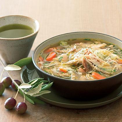 Turkey White-Bean Soup with Olio Nuovo