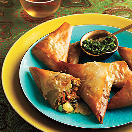 Vegetable Samosas with Mint ChutneyRecipe