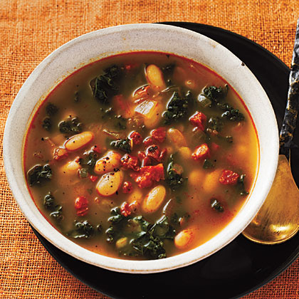White Bean Soup with Kale and ChorizoRecipe