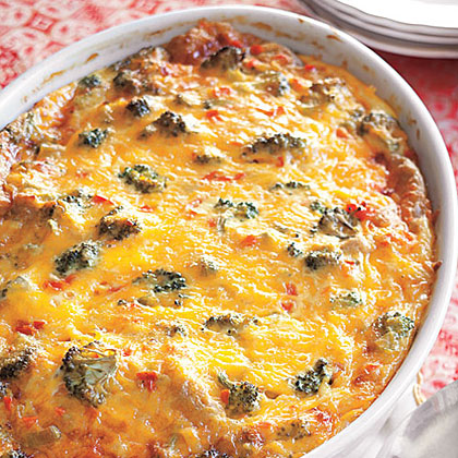 Vegetable Cheddar Strata
