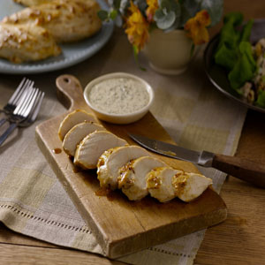 Blackened Chicken Breasts with Creole Mustard Sauce by Hellmann's® Mayonnaise