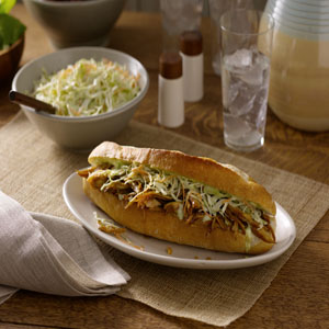 Vietnamese Style Turkey Sandwich (Bahn Mi)with Pickled Jalapeno Slaw by Hellmann's® Mayonnaise