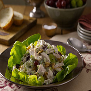 Turkey Salad with Grapes and Walnuts Recipe by Hellmann's® MayonnaiseRecipe