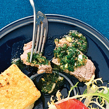 Poached Brisket of Beef with Salsa Verde