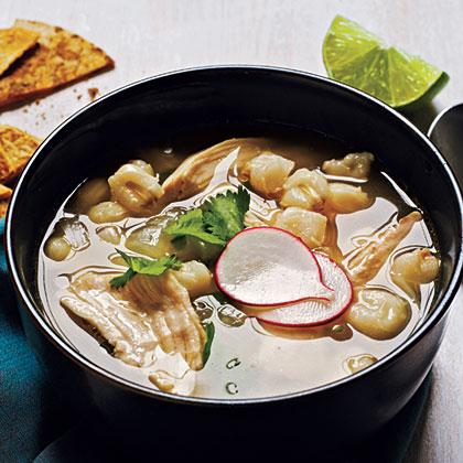 Mexican Chicken-Hominy Soup Recipe | MyRecipes