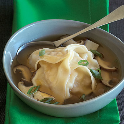 Chicken Amp Shrimp Dumplings In Green Onion Shiitake Broth Recipe Myrecipes