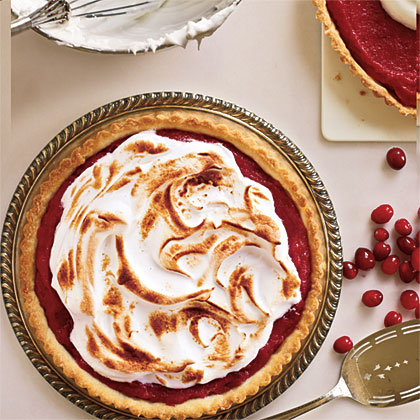 Meringue-Topped Cranberry Curd Tart Recipe