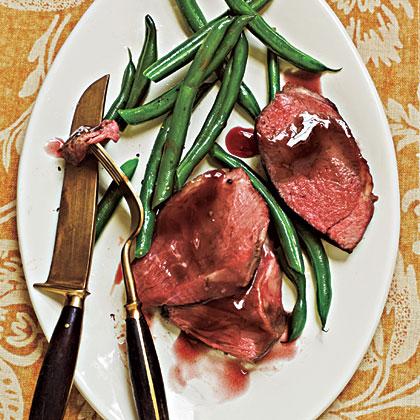 Roast Lamb with Pomegranate Sauce Recipe