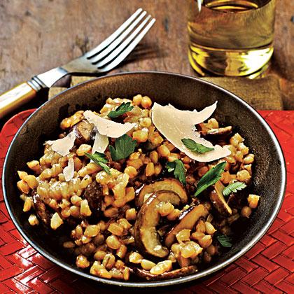 Mushroom and Barley Risotto Recipe