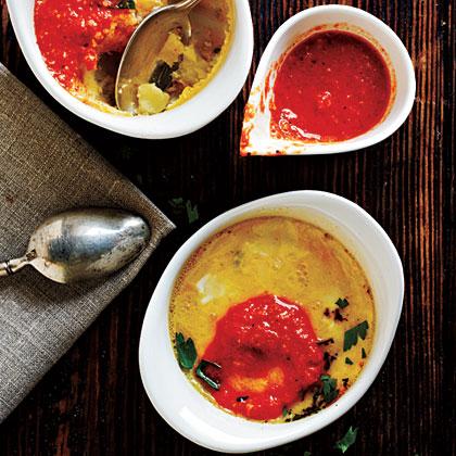 Tortilla Espanol with Romesco Sauce