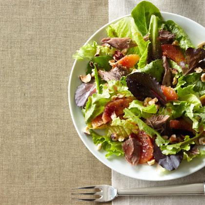 <p>Blood Orange and Duck Confit Salad</p>