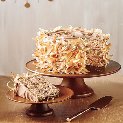 Caramel Italian Cream Cake Recipe