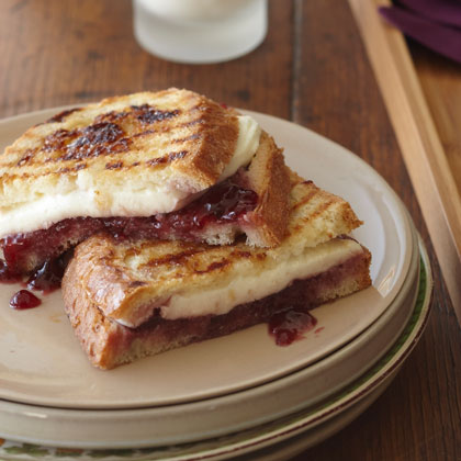Mozzarella, Raspberry, and Brown Sugar Panini Recipe | MyRecipes