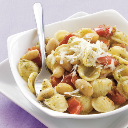 Orecchiette with White Beans and Pesto