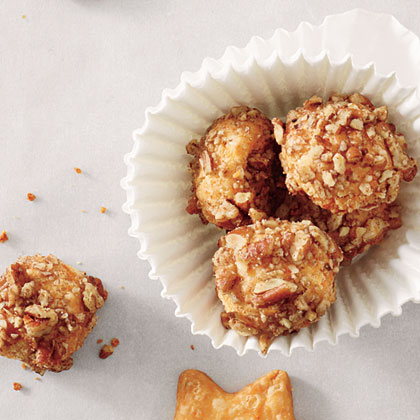 Pecan-Cheddar Buttons Recipe