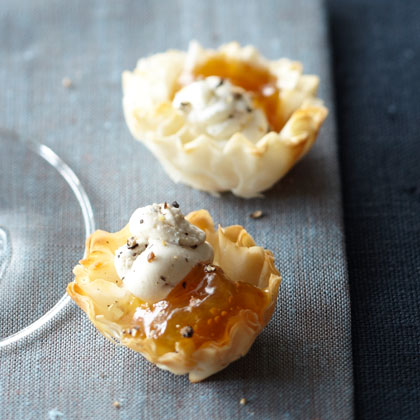 <p>Phyllo Shells + Fig Jam</p>