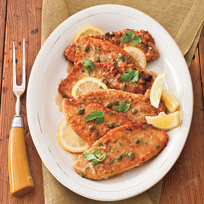 Turkey Cutlets with Lemon-Caper SauceRecipe