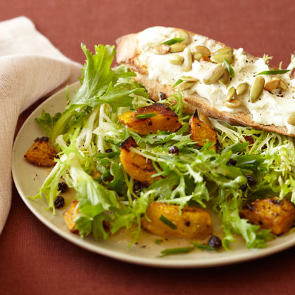 <p>Warm Salad of Kabocha and Goat Cheese with Currants</p>