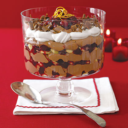 Cranberry and Chocolate Trifle