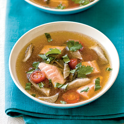 Hot and Sour Soup with Salmon