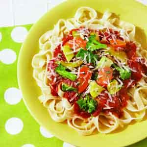 Easy Fettuccine Primavera
