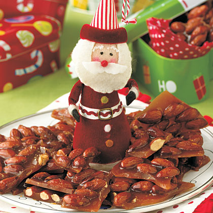 Holly-Jolly Almond Brittle