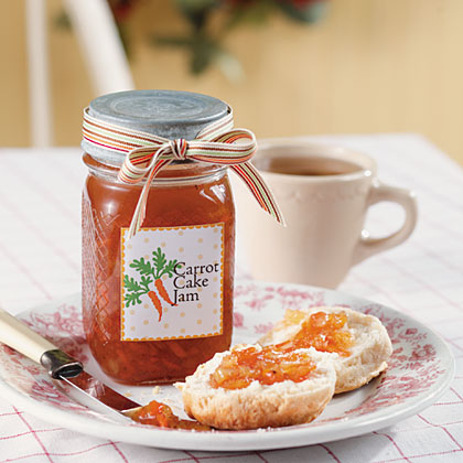 Carrot Cake Jam RecipeThis is a wonderful jam that tastes just like Grandma's carrot cake and is a real topping treat for biscuits, toast and waffles.