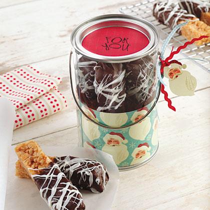 Chocolate-Dipped Crispy BarsRecipe