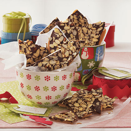 English Toffee RecipeThis chocolaty English toffee is easy and delicious and can make the perfect homemade holiday gift. A candy thermometer guarantees the best outcome when making the toffee but if you don't have one, go by the color and look for a rich, caramel shade. Store the toffee in an airtight container for up to one week or freeze for up to a month.