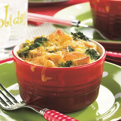 Turkey-Cheddar-Broccoli Strata