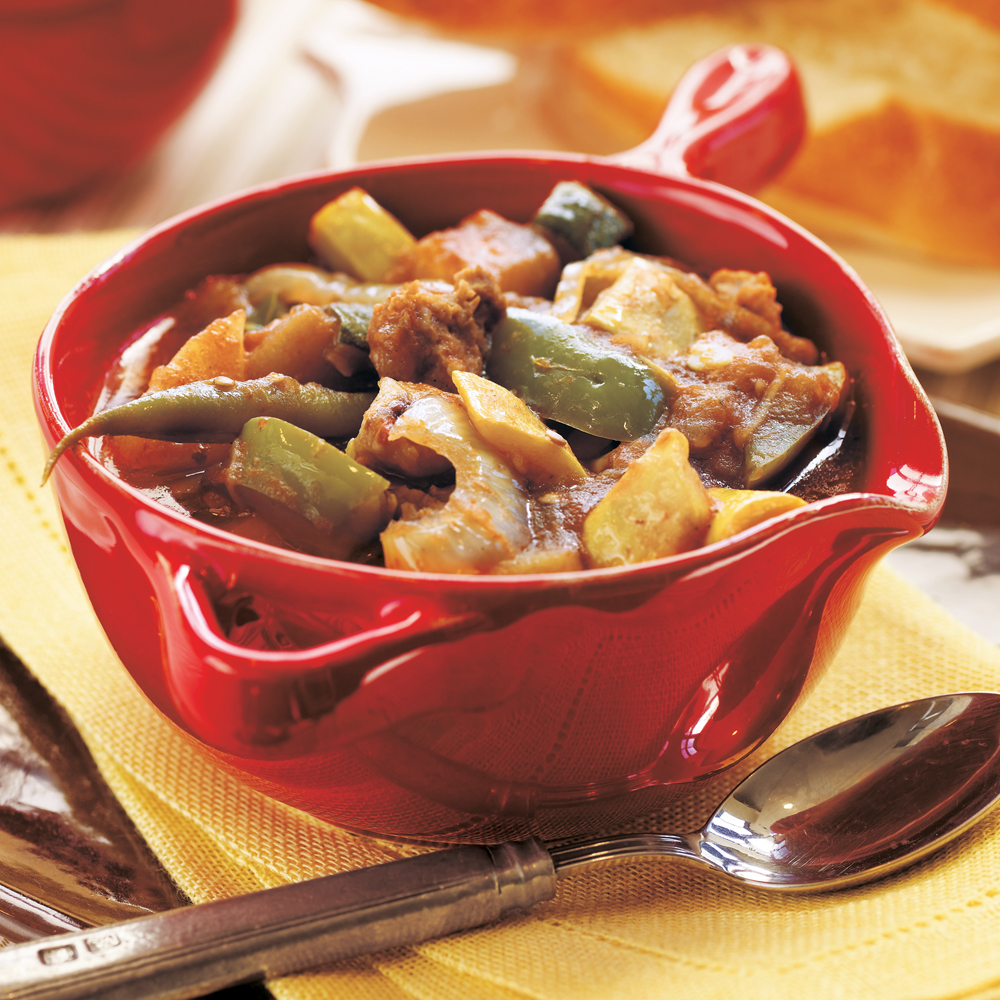 Mamma Mia Italian Stew RecipeWe love this stew because we can pack in all our favorite summer produce and just leave it to do it's thing while we do ours.  A cool summer night and a glass of wine, and we are in heaven.