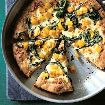 Broccoli Rabe Skillet Pizza Recipe