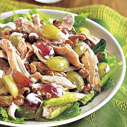 Chicken, Grape and Walnut Salad