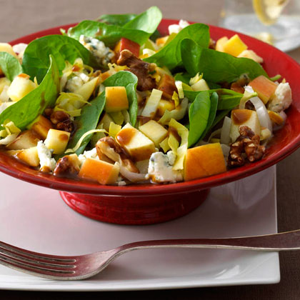 <p>Chopped Apple Salad with Pomegranate Vinaigrette</p>