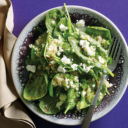 Citrus, Quinoa, and Spinach Salad