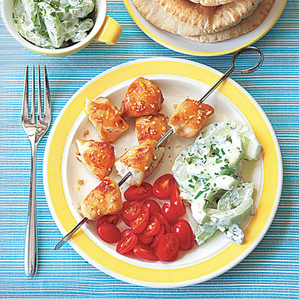 Broiled Greek Chicken with Pitas Recipe