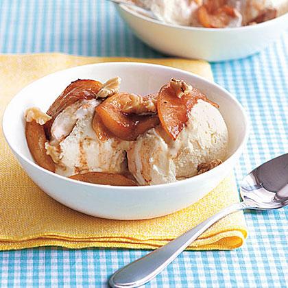 Maple Apples with Ice Cream