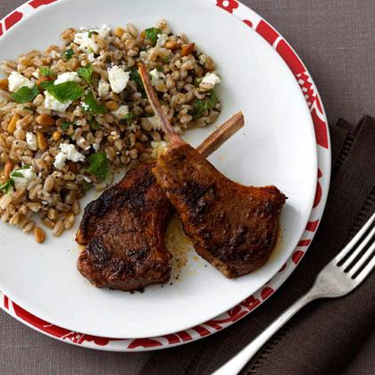 <p>Spanish Spice-Rubbed Lamb Tenderloin with Farro Salad</p>