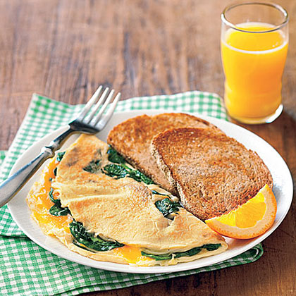 Spinach Omelet and Toast Recipe