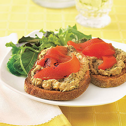 White Bean and Red Pepper ToastRecipe