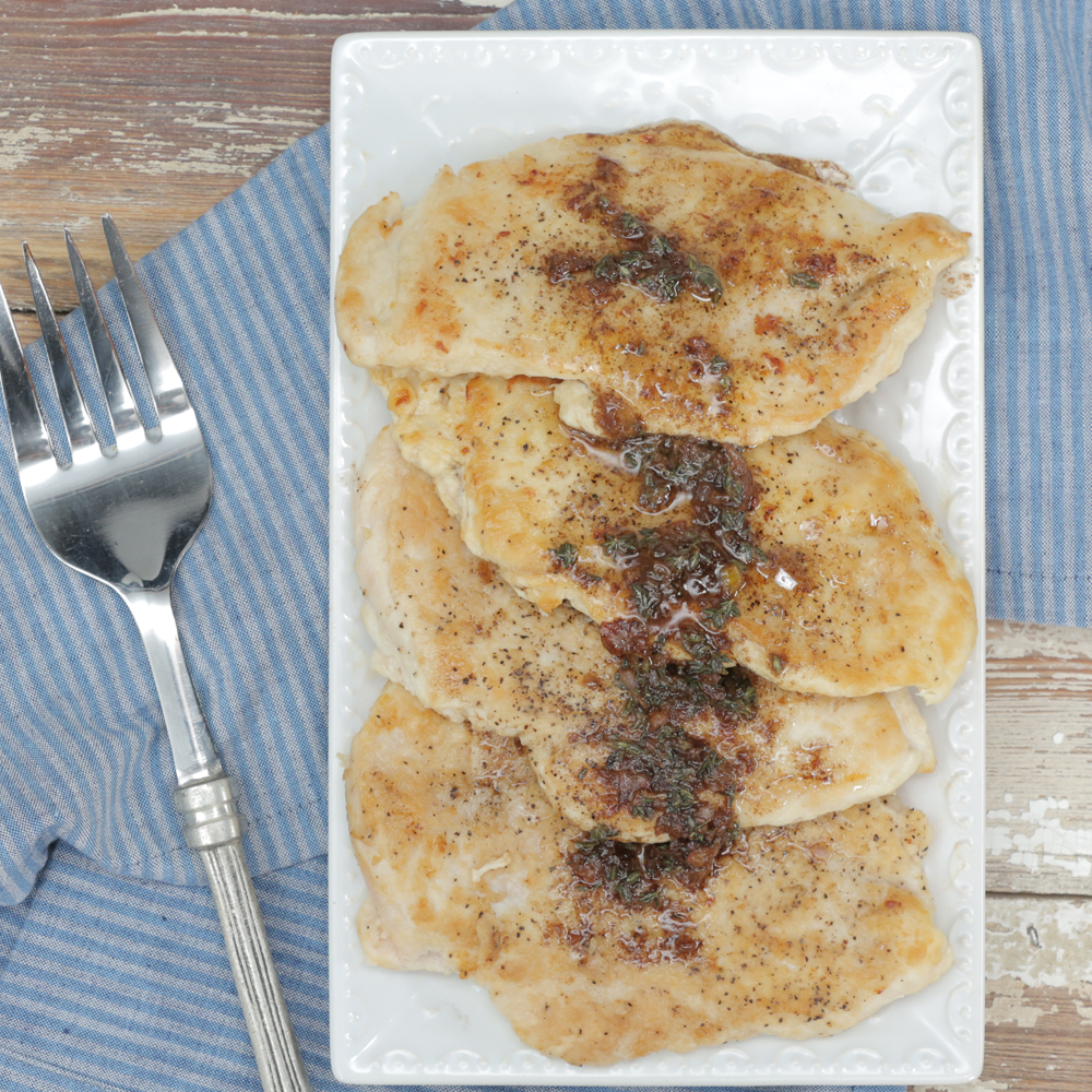 Sauteed Chicken with Sage Browned Butter