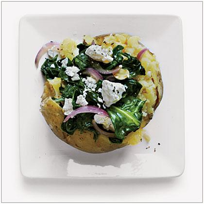 Spinach Baked Potato
