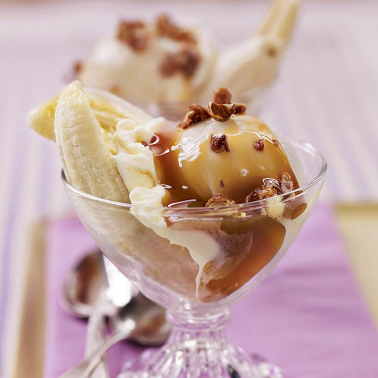 Banana-Caramel Sundaes