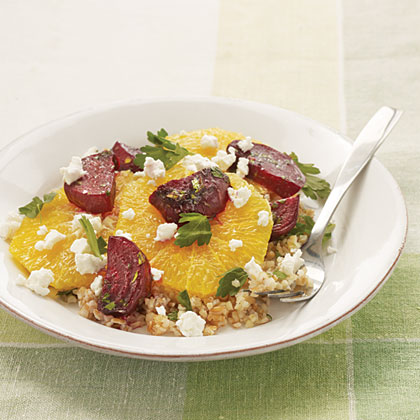 Beet, Bulgur, and Orange Salad with Parsley Vinaigrette