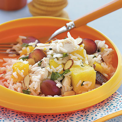 Chicken, Rice, and Tropical Fruit Salad