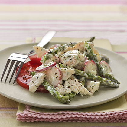 Chicken Salad with Asparagus & Creamy Dill Dressing Recipe ...
