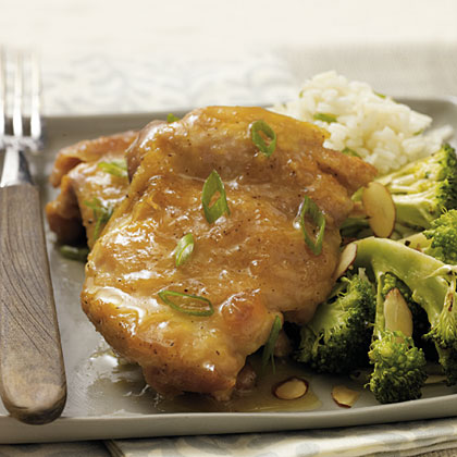 Chicken Thighs with Orange-Ginger Glaze
